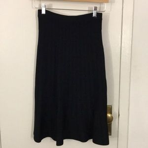 NWT Michael Kors Black flared skirt